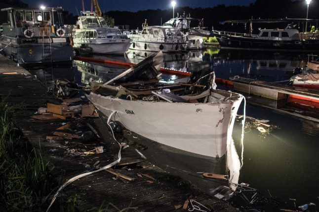 Exploding yacht injures 16 in west German harbour
