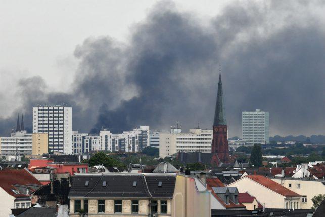 Smoke on the water: Hamburg under siege for G20