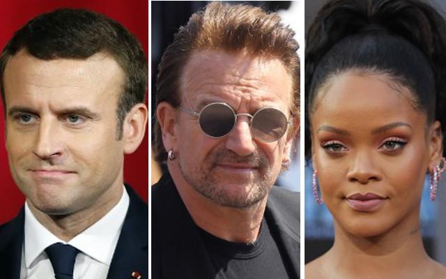 Macron set for celeb-filled week as Bono and Rihanna visit Elysée