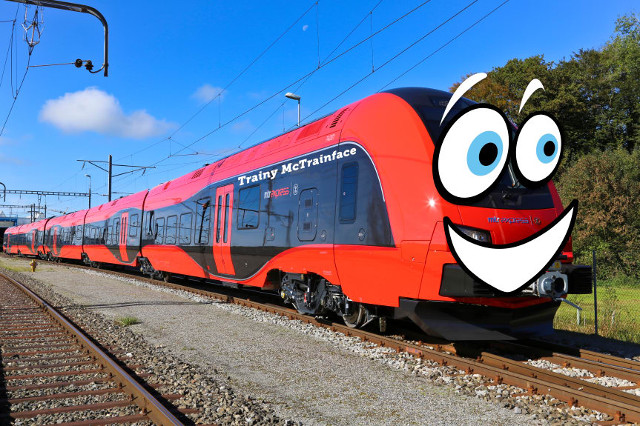 'I can guarantee with my life that the train will be called Trainy McTrainface'