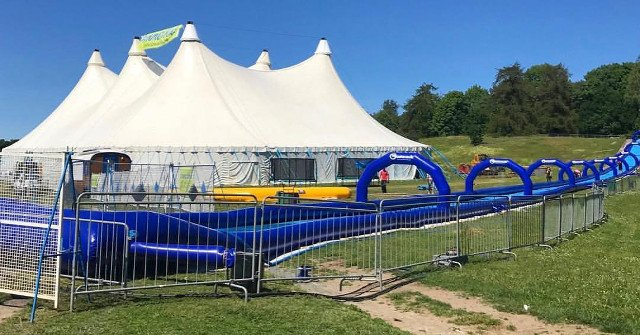 In pictures: Stockholm now has a 140-metre long inflatable waterslide for adults