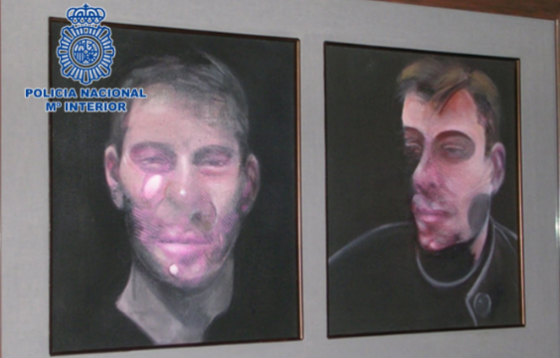 Spanish police recover three stolen Francis Bacon paintings