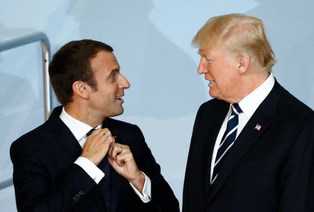 Macron to woo under-pressure Trump with French grandeur and gastronomy
