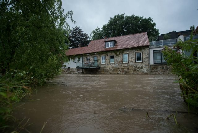 One woman missing and disaster alert sounded amid storms across Germany