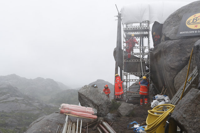 Norway's 'troll penis' rock re-erected