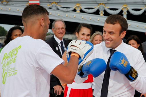 Macron visits Lausanne to support Paris Olympic bid