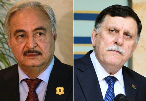 Libya's rival leaders due in Paris for talks