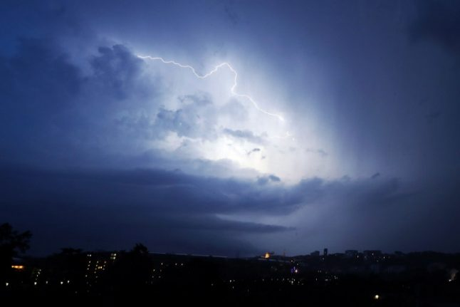Violent storms lash north west France as more extreme weather warnings issued