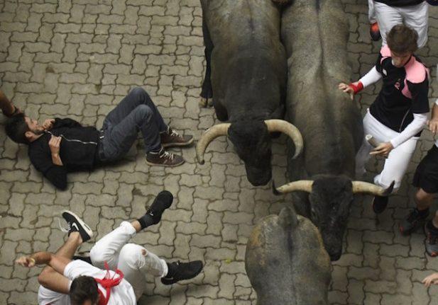 Ten hurt in Spanish bull running fest