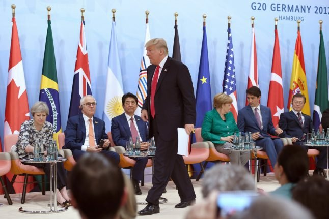 Stormy G20 ends with opt-outs for Trump on climate, trade