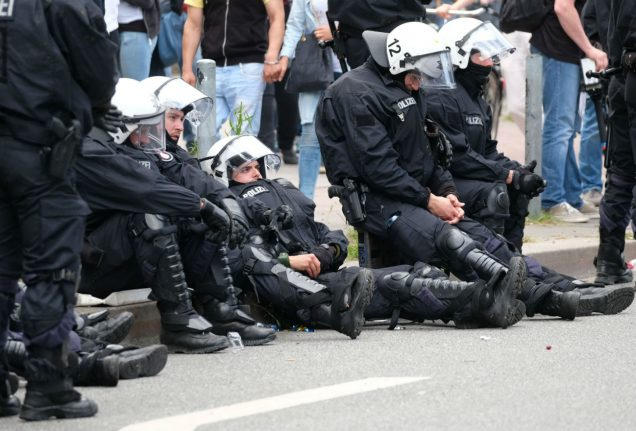 Close to 500 police injured after three days of rioting in Hamburg