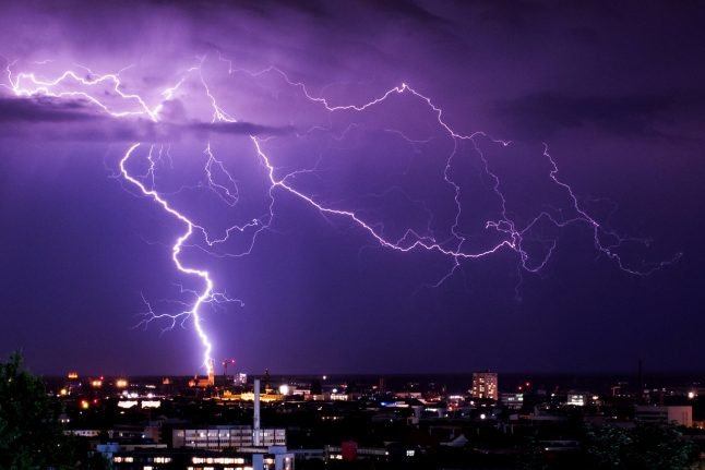 Thunderstorms to sweep Germany from Munich to Berlin on Thursday