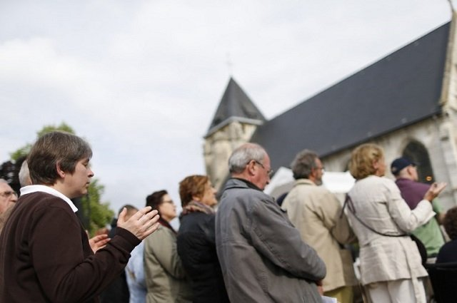 France remembers priest slain by terrorists in his own church