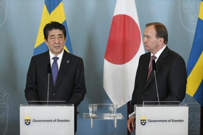 Swedish, Japanese PMs condemn North Korean missile tests