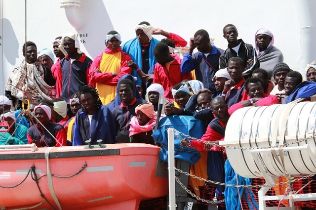 EU ministers discuss plans to ease pressure on Italy as migrant numbers rise