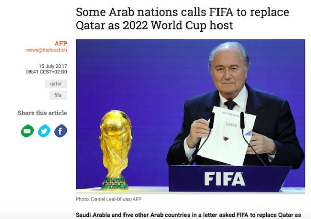 The Local victim of Qatar fake news plant