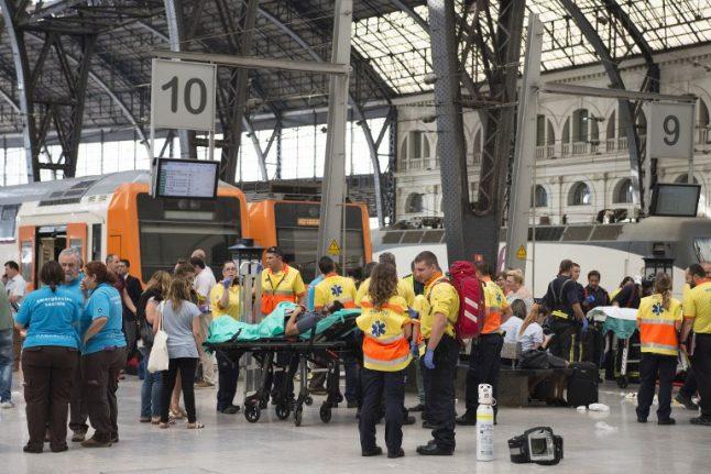 Commuter train slams into Barcelona platform injuring 54 people
