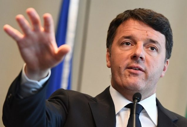 Ex-PM Renzi says Italy should only take in a 'fixed number' of migrants