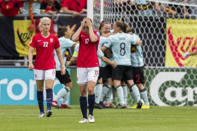 Newcomers Belgium stun runners-up Norway at women's Euros
