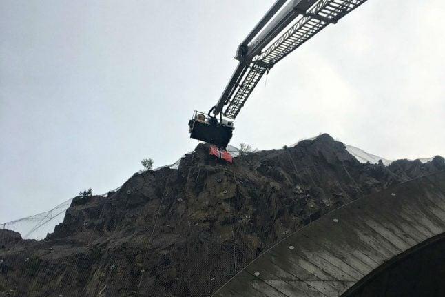 Nazi flag near Norway motorway causes road closure