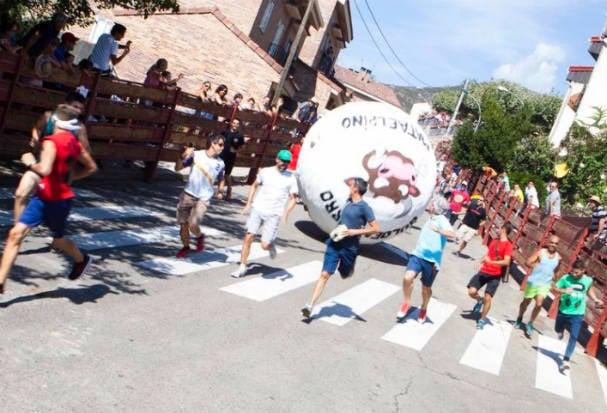 Two injured during 'running of the balls' fiesta