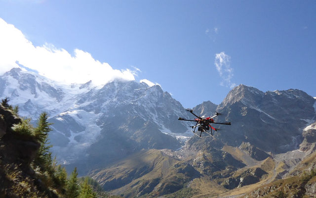 Drone research over Italian Alps confirms depleted water resources