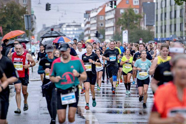 Freak weather cuts short Copenhagen half marathon