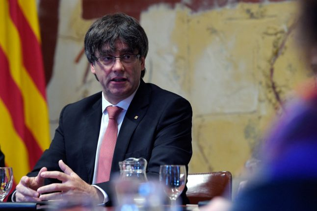 Catalan leader says he won't accept suspension over independence vote