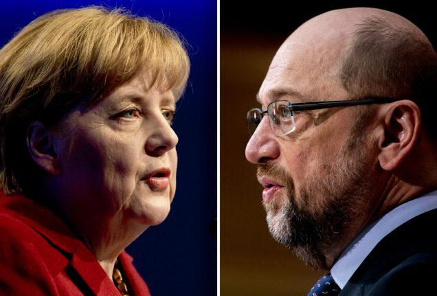 Cool Merkel to go head-to-head with fiery Schulz in TV debate showdown