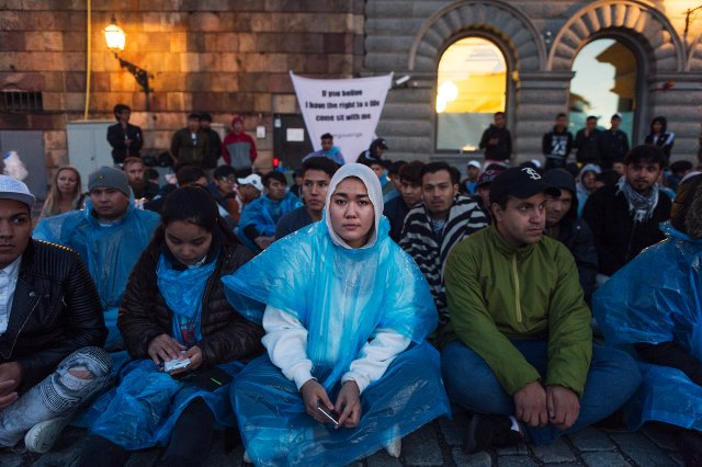 24 hours on Stockholm's streets with refugee protesters