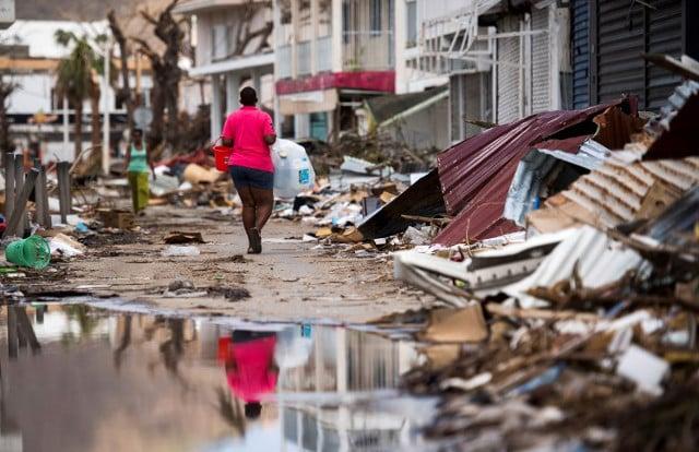 Macron arrives in hurricane-hit Caribbean