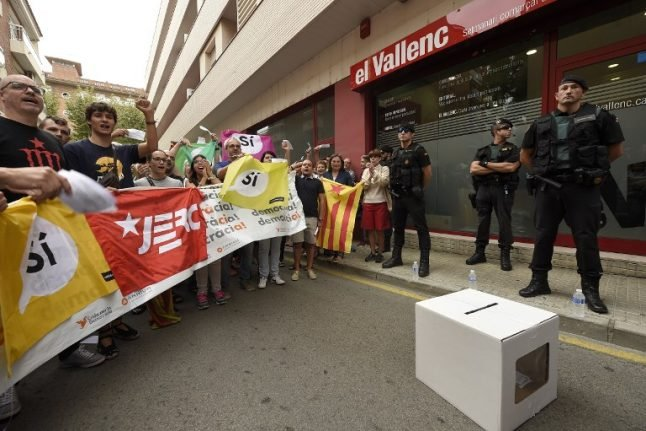 Police ordered to seize ballot boxes ahead of Catalonia vote