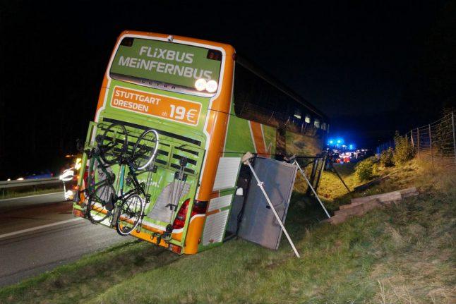 Driver under suspicion after Flixbus from Berlin to Hamburg crashes on Autobahn