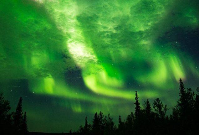 Spectacular Northern Lights dazzle northern Sweden