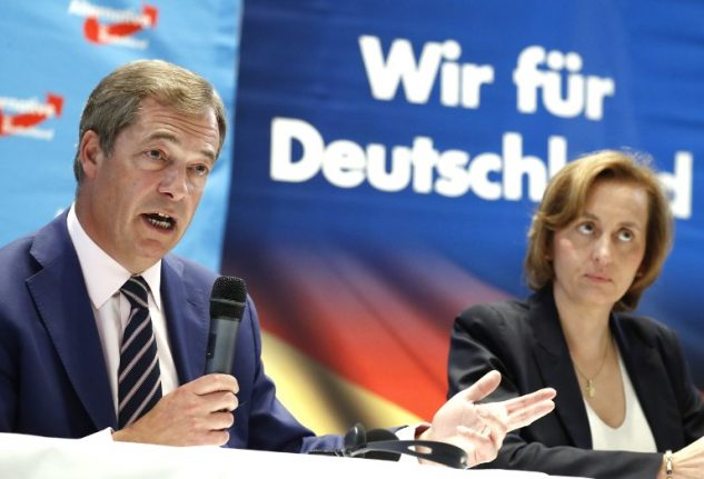 UKIP's Farage rallies Germany's right-wing AfD