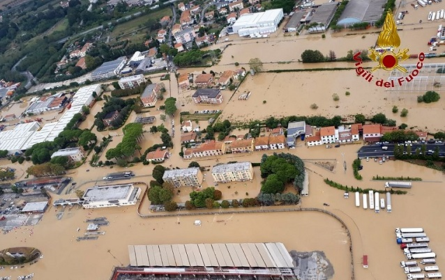 Evacuations and school closures as storms continue to lash Italy