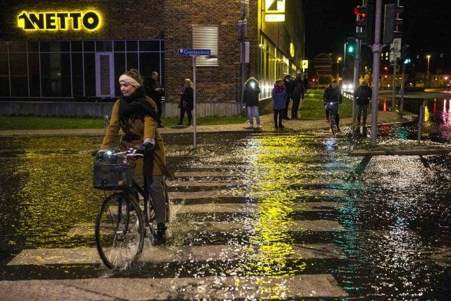 Storm Ingolf raises water levels in Denmark
