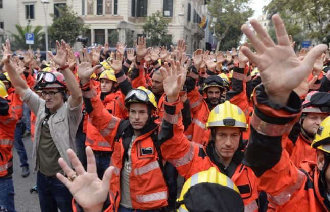 IN PICTURES: Day of protest across Catalonia