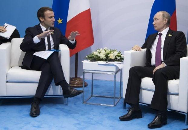Macron urges Putin to pressure Assad on aid