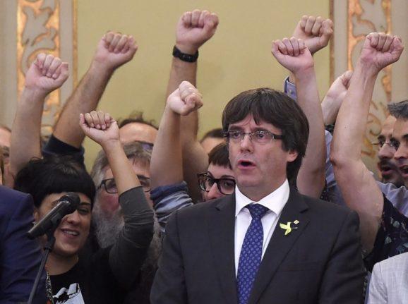 Spain issues arrest warrant for Catalan leader Puigdemont
