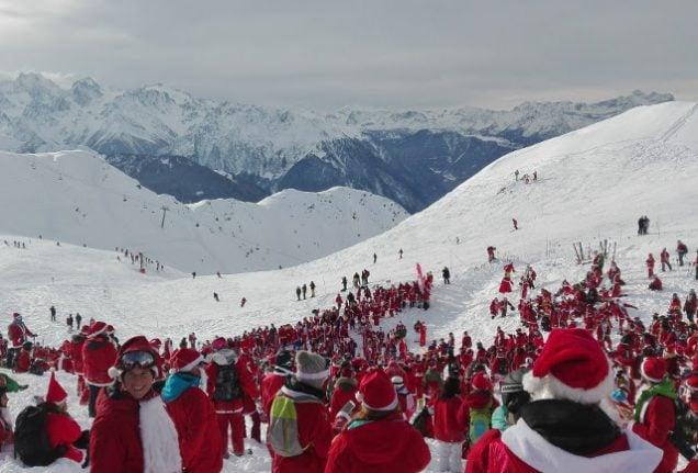 Verbier opens season with nearly 2,700 skiing Santas
