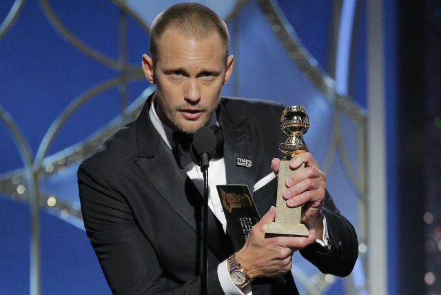 Skarsgård wins Golden Globe for 'Big Little Lies' performance