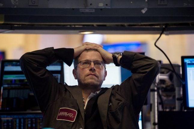 Swiss stock market opens down after Wall Street chaos