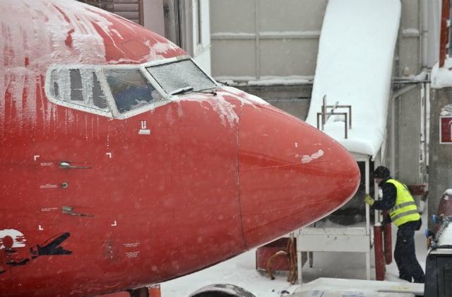 Plane skids off runway at Stockholm's main airport