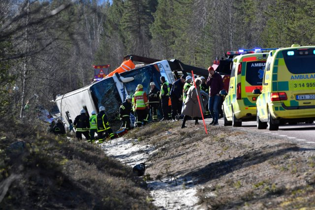 Driver charged with fatal school bus crash in Sweden