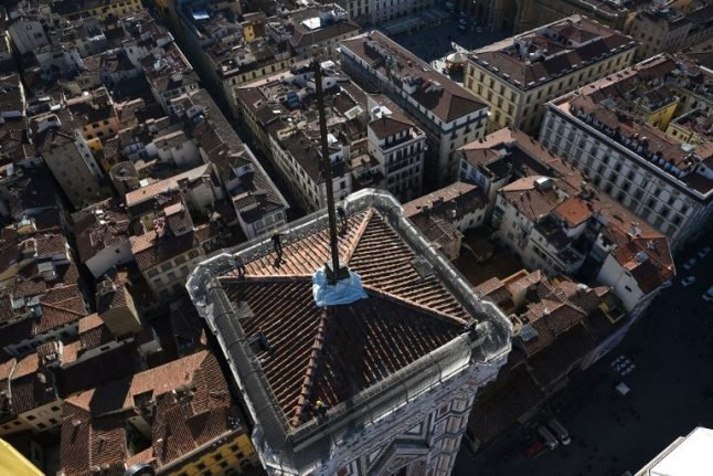 Peregrine falcons discovered nesting in Florence's bell tower