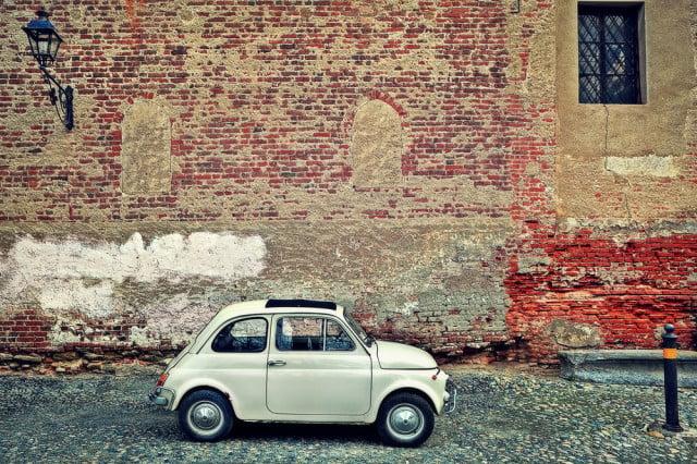 Fiat 500 on Italian street