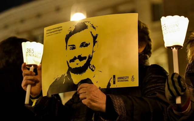 Egypt refuses to accuse police over Italian student's murder
