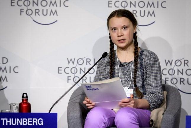 'I want you to panic': Swedish teen raises climate alarm at Davos