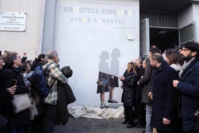 New Elena Ferrante street art unveiled in Naples